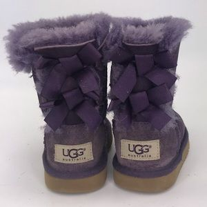 Ugg Bailey Purple Bow Shearling Winter Boots 7